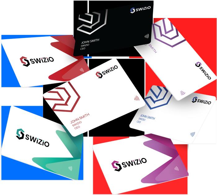 Phone tapping Swizio smart card